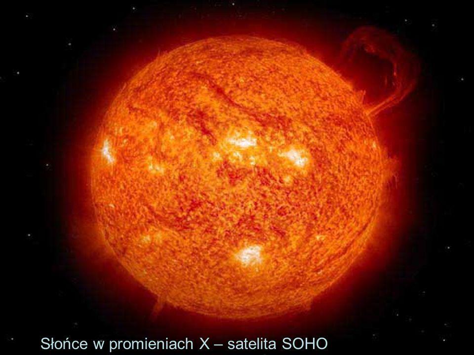 Słońce – korona i wiatr Prędkość wiatru słonecznego – ok.