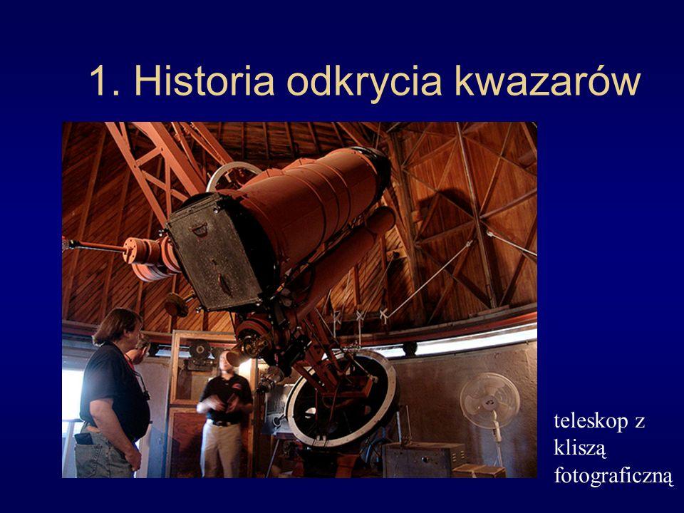 1. Historia odkrycia kwazarów teleskop z kliszą fotograficzną