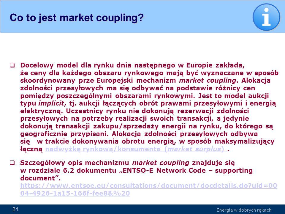 Energia w dobrych rękach WWW.PSE-operator.pl. Energia w dobrych rękach Docelowy model dla rynku dnia następnego w Europie zakłada, że ceny dla każdego