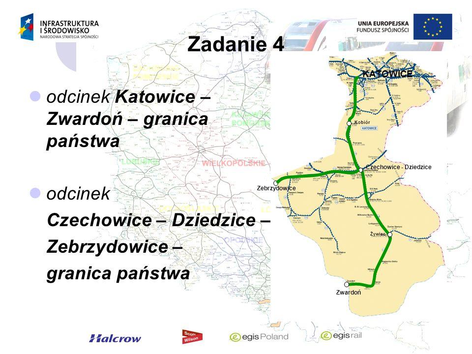 Zadanie 4 odcinek Katowice – Zwardoń – granica państwa odcinek Czechowice – Dziedzice – Zebrzydowice – granica państwa Czechowice - Dziedzice Żywiec Z