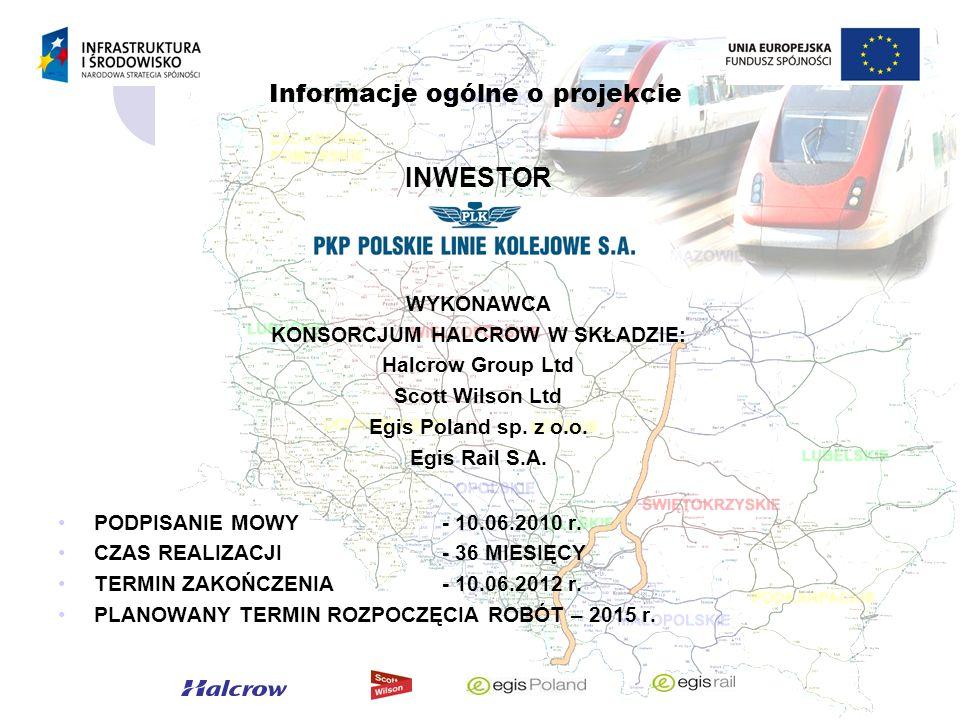 Zakres prac Założenia do modernizacji oparte są o wytyczne Zamawiającego zapisane w Opisie Przedmiotu Zamówienia Modernizacji będą podlegać podstawowo (zakres w zależności od wybranej opcji): nawierzchnia kolejowa, podtorze i podłoże (wzmocnienie), sieć trakcyjna i podstacje trakcyjne, urządzenia sterowania ruchem kolejowym, drogi wzdłuż linii kolejowej (równoległe, technologiczne), obiekty inżynieryjne (mosty wiadukty, przepusty), układy torowe na wybranych posterunkach ruchu – dostosowane do nowych funkcji, pozostałe branże.
