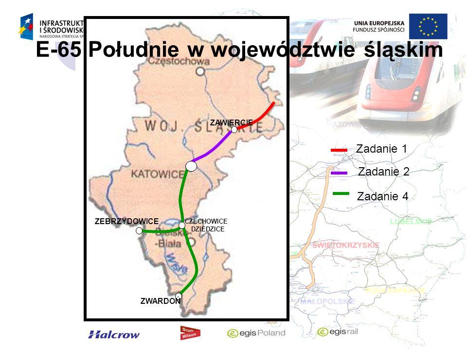 Zadanie 1 Odcinek Grodzisk Mazowiecki – Zawiercie (CMK – Centralna Magistrala Kolejowa)