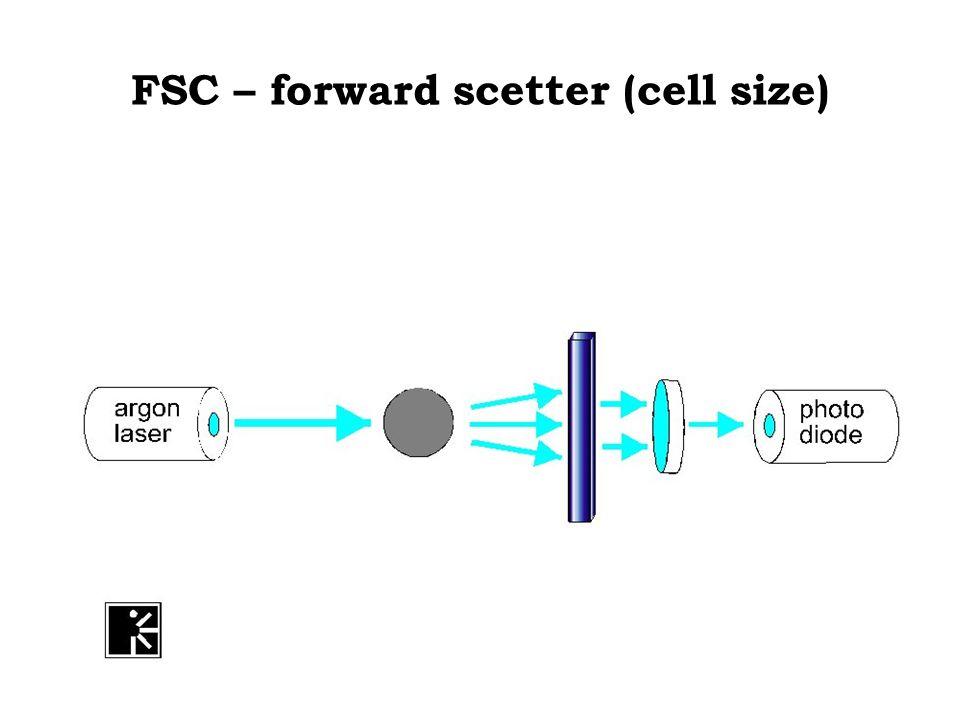 Side scatter – cell granularity