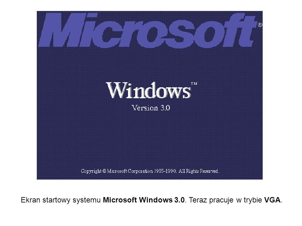 Ekran startowy systemu Microsoft Windows 3.0. Teraz pracuje w trybie VGA.