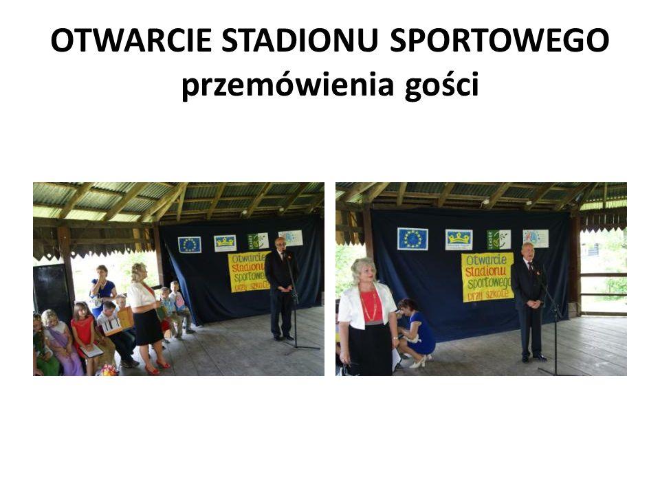 OTWARCIE STADIONU SPORTOWEGO przemówienia gości
