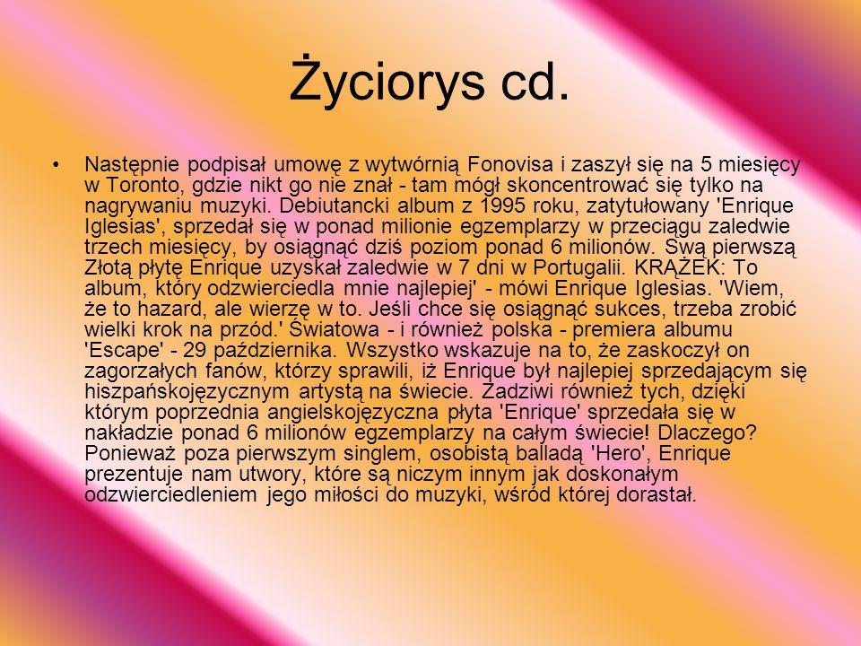 Życiorys cd.