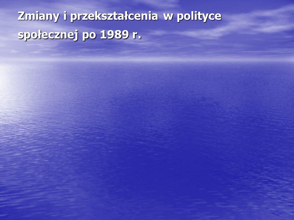 Zmiany i przekształcenia w polityce społecznej po 1989 r.