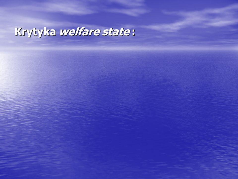 Krytyka welfare state :