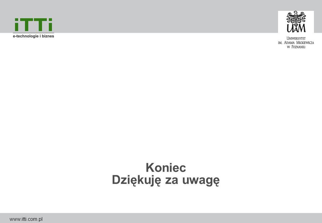 Koniec Dziękuję za uwagę www.itti.com.pl