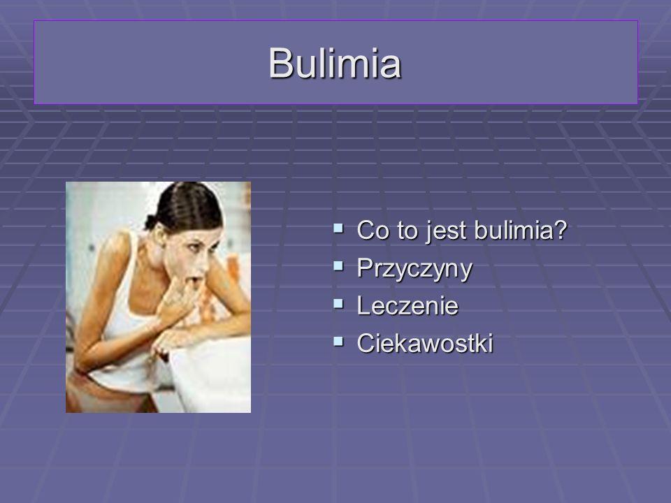 Co to jest bulimia.