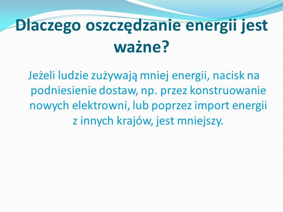 Dlaczego oszczędzanie energii jest ważne.