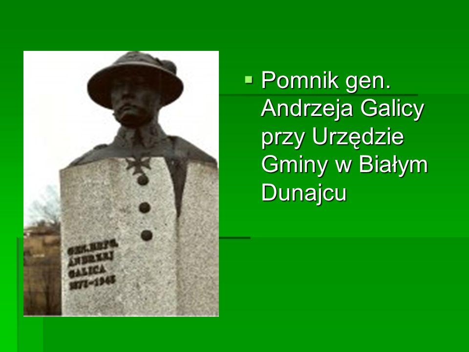 Pomnik gen. Andrzeja Galicy przy Urzędzie Gminy w Białym Dunajcu Pomnik gen. Andrzeja Galicy przy Urzędzie Gminy w Białym Dunajcu