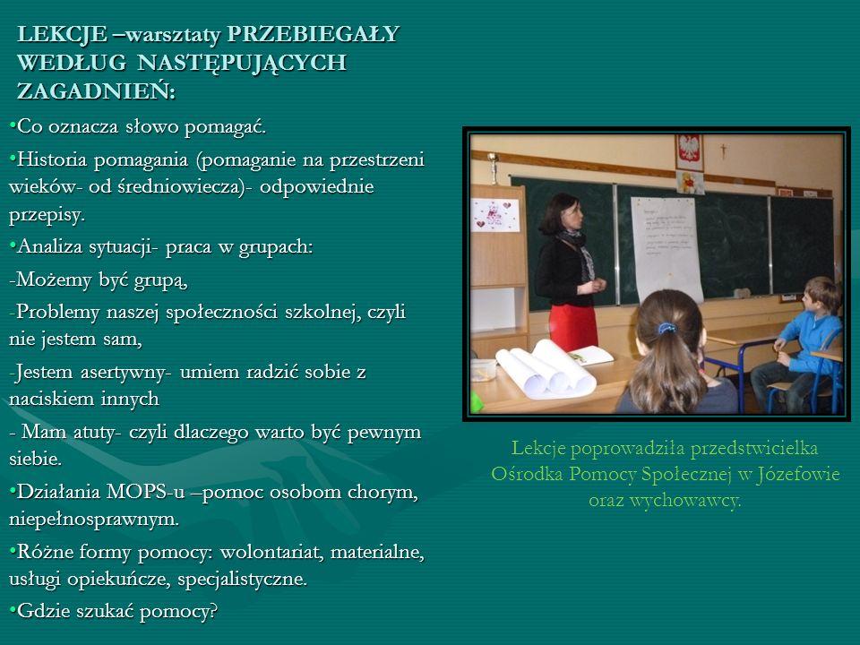 W każdej społeczności uczniowskiej znajdują się osoby, niewystarczająco otoczone opieką wychowawczą przez rodziców lub prawnych opiekunów.