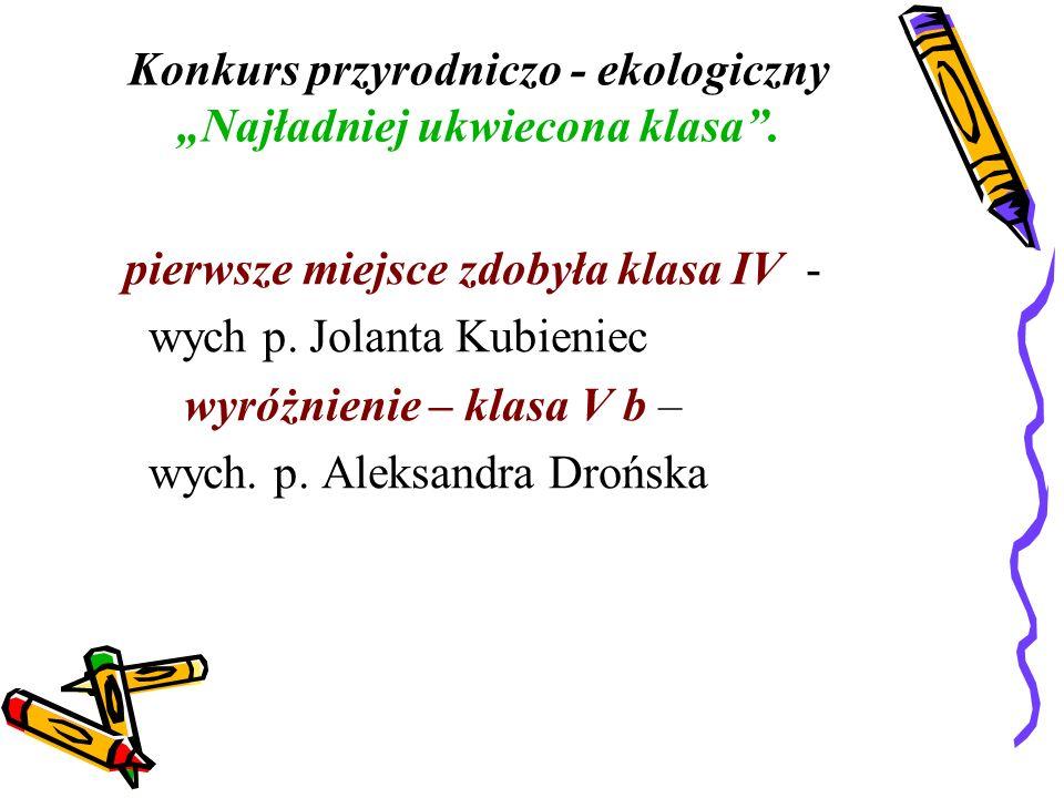 Konkurs plastyczny - Piękno i uroki jesieni Zwycięzcą okazała się uczennica: Maria Stanaszek - uczennica klasy VI a.
