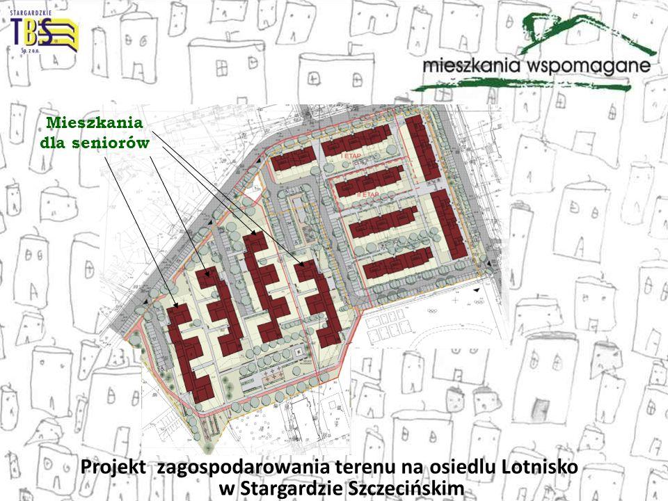 Projekt zagospodarowania terenu na osiedlu Lotnisko w Stargardzie Szczecińskim Mieszkania dla seniorów