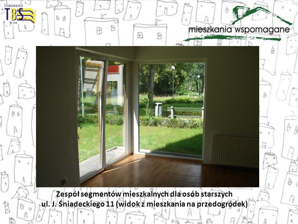 Zespół segmentów mieszkalnych dla osób starszych ul. J. Śniadeckiego 11 (widok z mieszkania na przedogródek)