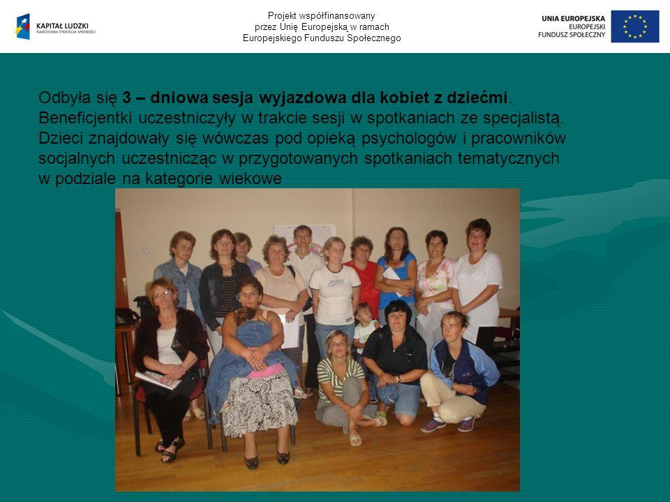 Odbyła się 3 – dniowa sesja wyjazdowa dla kobiet z dziećmi.