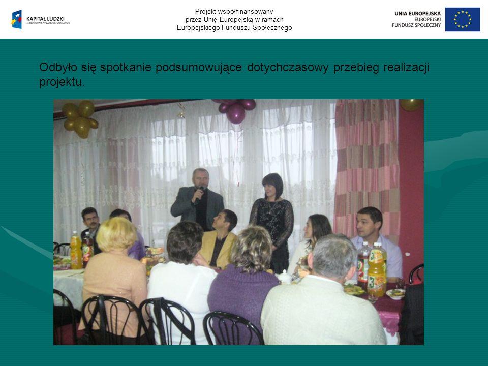Odbyło się spotkanie podsumowujące dotychczasowy przebieg realizacji projektu.