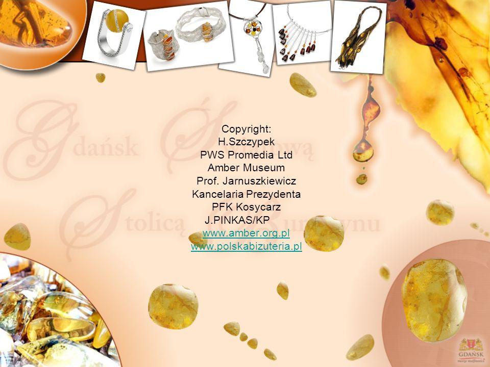 Copyright: H.Szczypek PWS Promedia Ltd Amber Museum Prof. Jarnuszkiewicz Kancelaria Prezydenta PFK Kosycarz J.PINKAS/KP www.amber.org.pl www.polskabiz