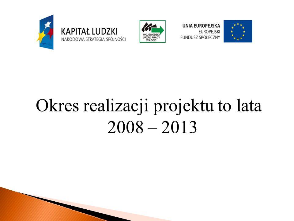 Okres realizacji projektu to lata 2008 – 2013