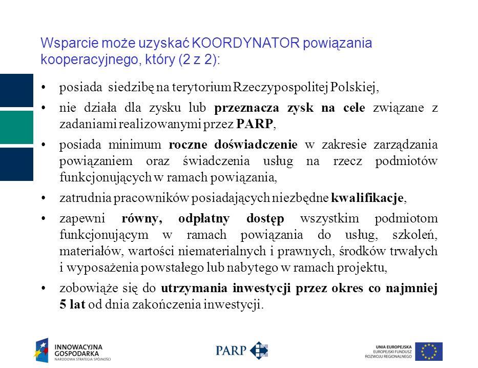 posiada siedzibę na terytorium Rzeczypospolitej Polskiej, nie działa dla zysku lub przeznacza zysk na cele związane z zadaniami realizowanymi przez PA