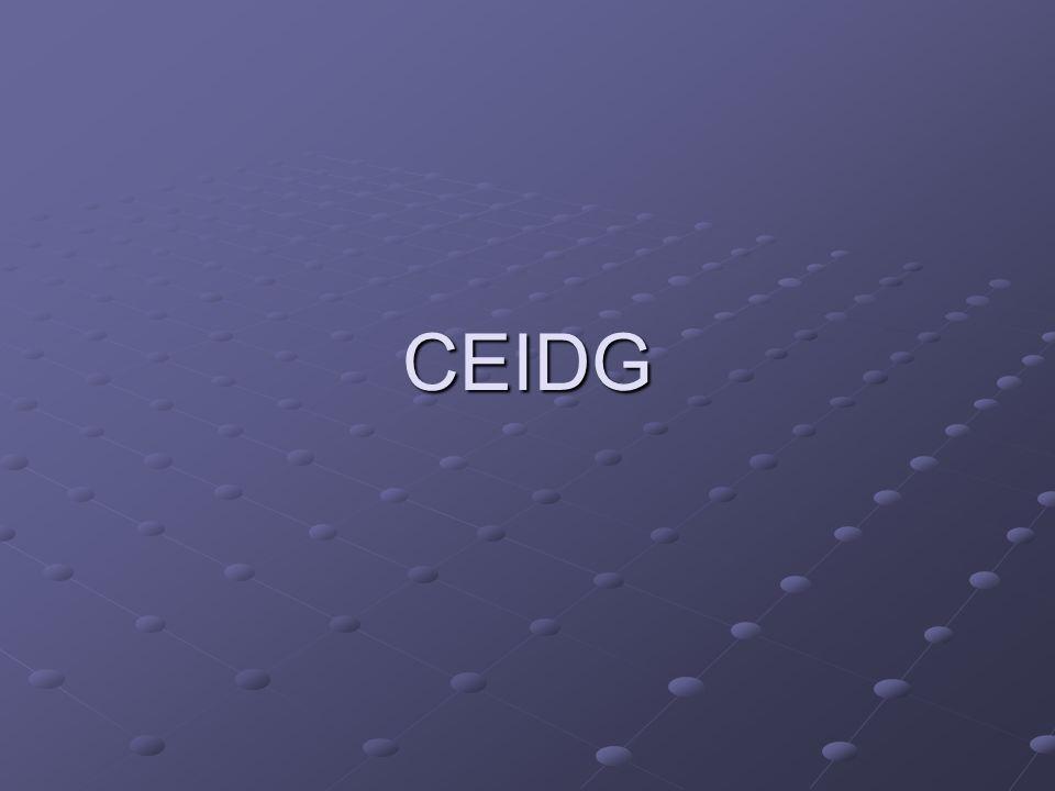 CEID G INTERNET KEP ZUS GUS PESEL TERYT Weryfikacja poprawności danych KRK/POBYT/KARTA POLAKA weryfikacja uprawnień NIP weryfikacja Nowy NIP CEDG 1 REGON