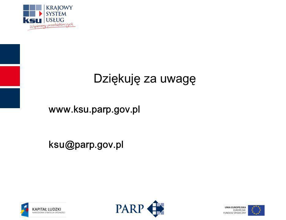 www.ksu.parp.gov.pl ksu@parp.gov.pl Dziękuję za uwagę