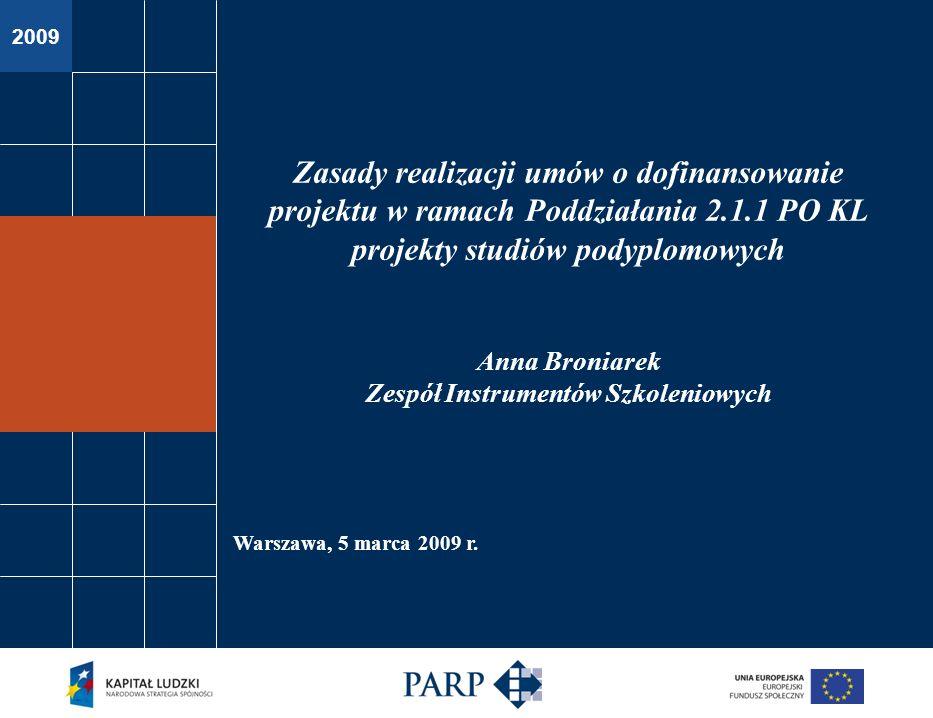 2009 Warszawa, 5 marca 2009 r.