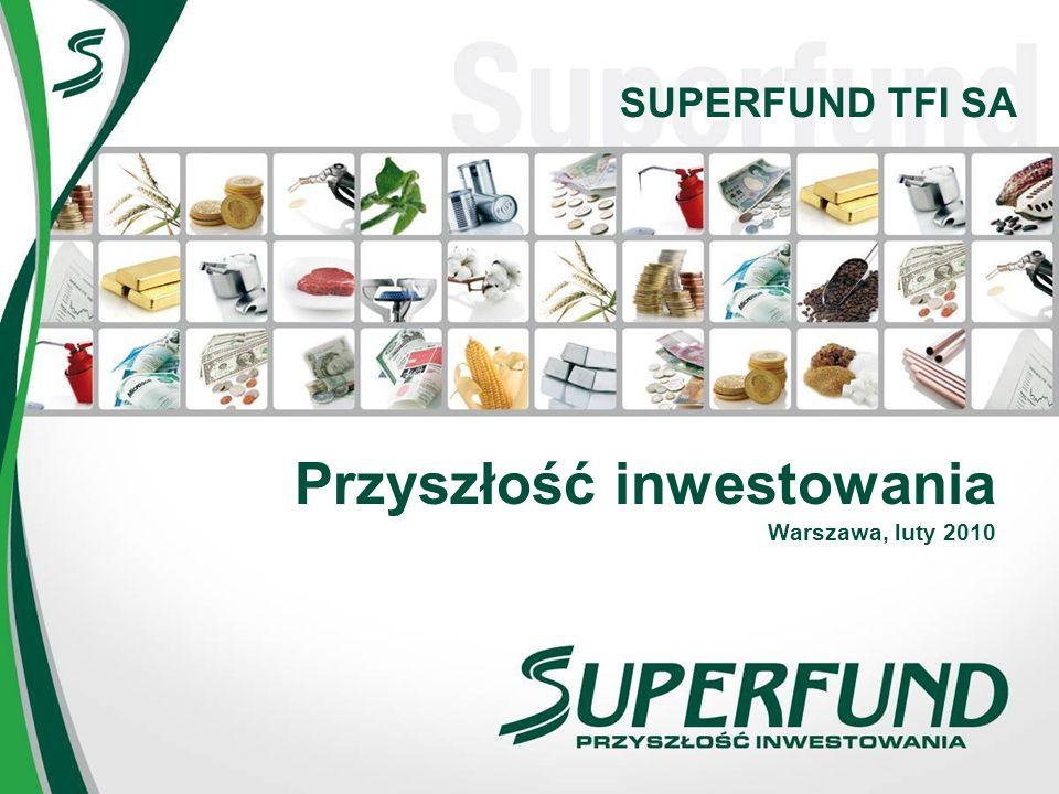 Superfund w skrócie Globalny fundusz inwestycyjny działający na rynkach kontraktów terminowych (MANAGED FUTURES) Skuteczny model inwestowania od prawie 14 lat Od początku istnienia osiągnął ponad 563%* zysku, w porównaniu do 105%* na indeksie WIG20.