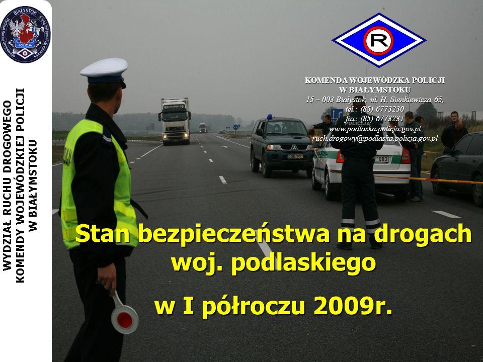 Stan bezpieczeństwa na drogach woj. podlaskiego w I półroczu 2009r.