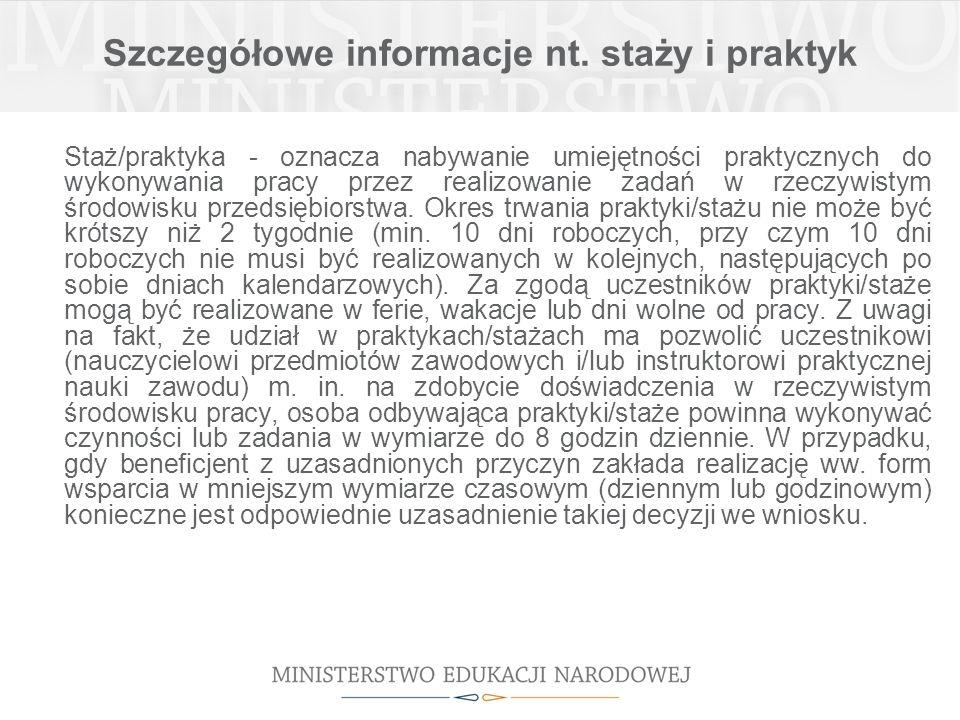 Szczegółowe informacje nt.