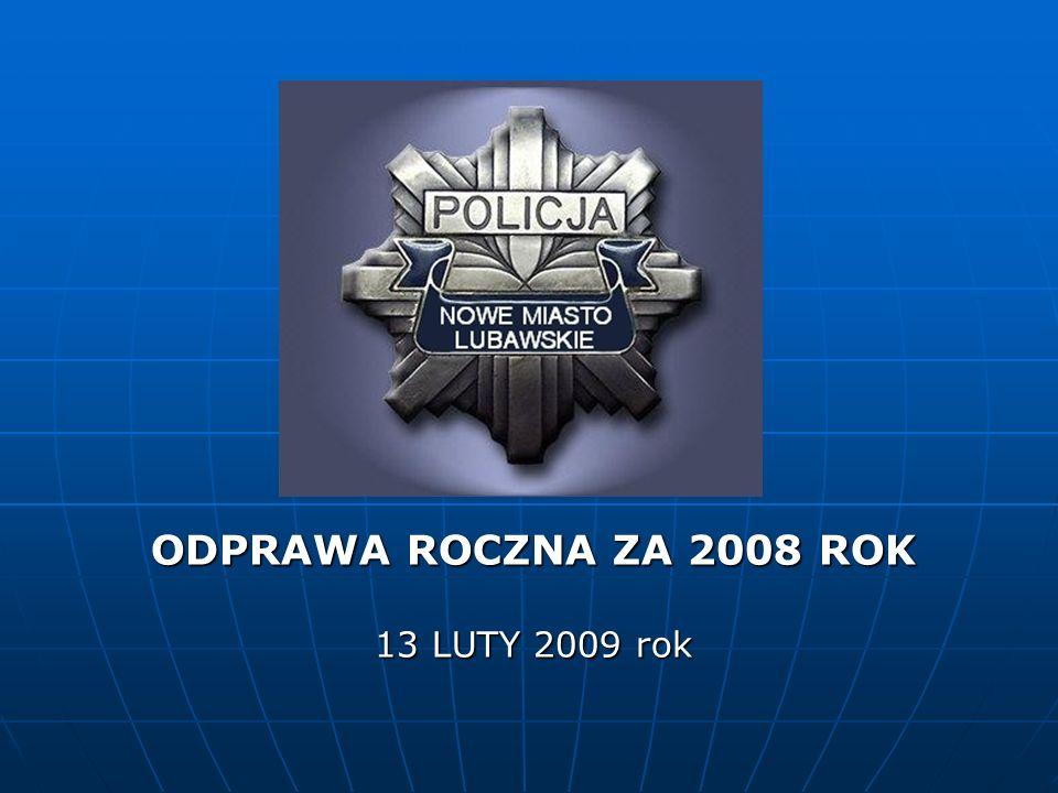 ODPRAWA ROCZNA ZA 2008 ROK 13 LUTY 2009 rok
