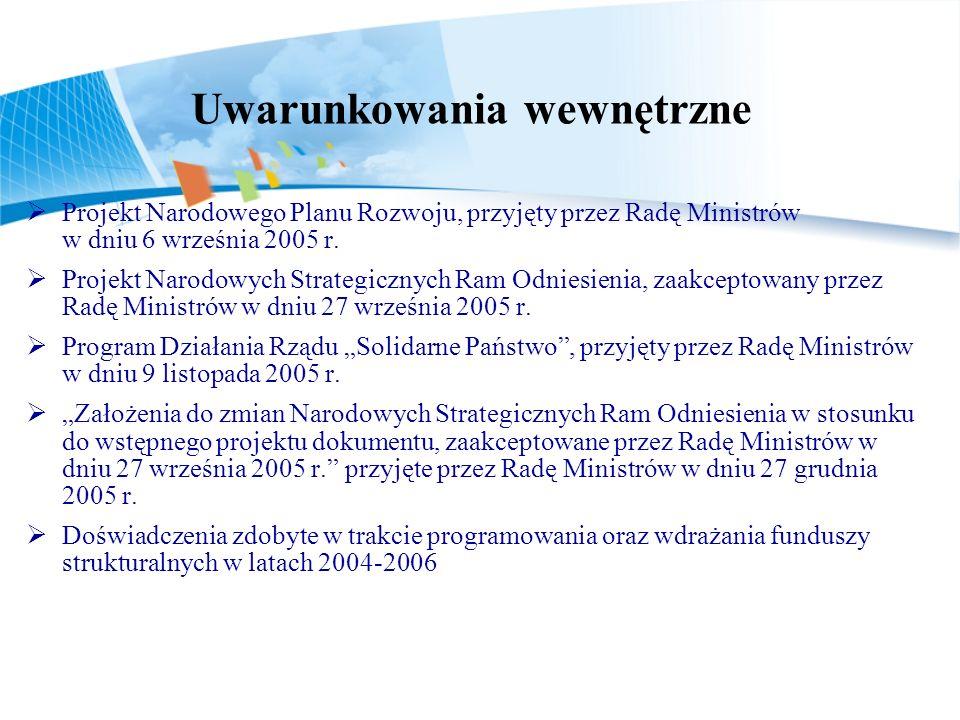 Projekt Narodowego Planu Rozwoju, przyjęty przez Radę Ministrów w dniu 6 września 2005 r.