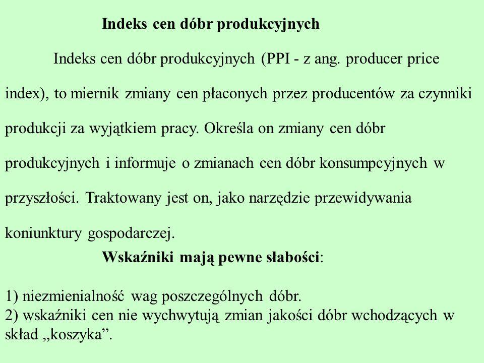W Polskiej praktyce statystycznej oblicza się stopę inflacji w dwojaki sposób: a)porównując ogólny poziom cen z roku t 1 z analogicznym poziomem cen z roku t 0, przy czym bierze się tutaj pod uwagę wskaźniki przeciętne dla 12 miesięcy w roku, oraz; b) porównując ogólny poziom cen z grudnia roku t 1 z ogólnym poziomem cen z grudnia roku t 0.