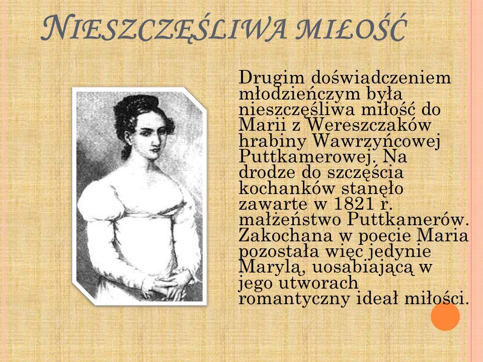 K ONTAKT Z FOLKLOREM Trzecim doświadczeniem Mickiewicza był kontakt z folklorem.