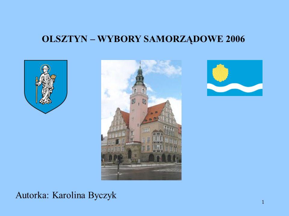 1 OLSZTYN – WYBORY SAMORZĄDOWE 2006 Autorka: Karolina Byczyk