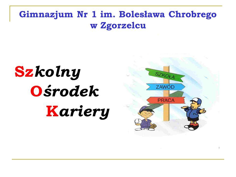 Gimnazjum Nr 1 im. Bolesława Chrobrego w Zgorzelcu Sz kolny O środek K ariery