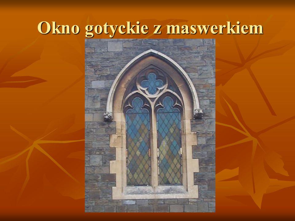 Okno gotyckie z maswerkiem