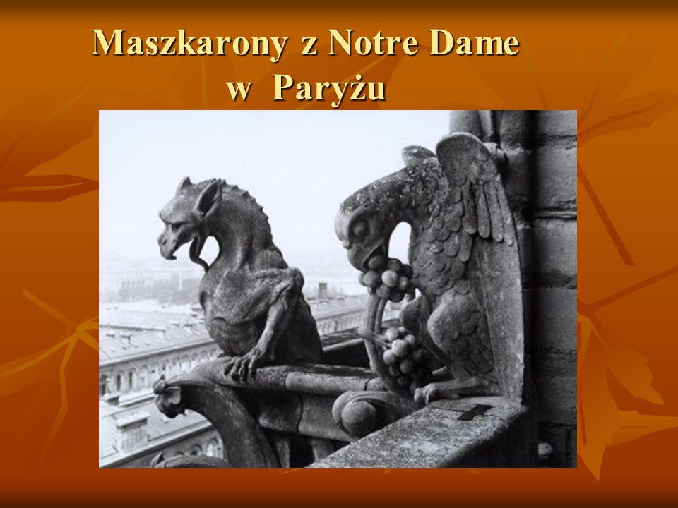 Maszkarony z Notre Dame w Paryżu