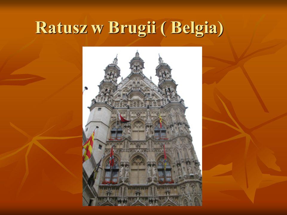 Ratusz w Brugii ( Belgia)
