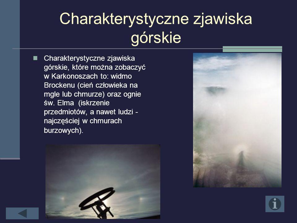 Obserwacje wskazują, iż… Wieloletnie obserwacje wskazują, iż Karpacz, położony u stóp Śnieżki, jest mniej wietrzny i bardziej słoneczny od Szklarskiej