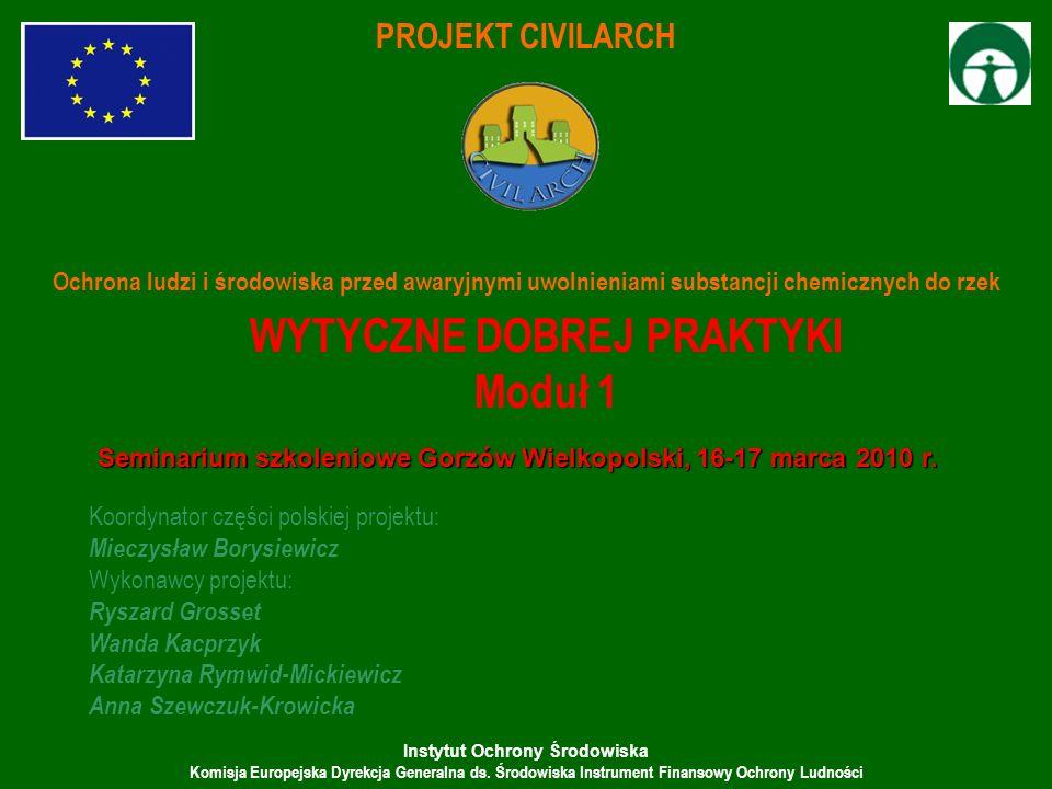 Instytut Ochrony Środowiska Komisja Europejska Dyrekcja Generalna ds. Środowiska Instrument Finansowy Ochrony Ludności PROJEKT CIVILARCH Ochrona ludzi