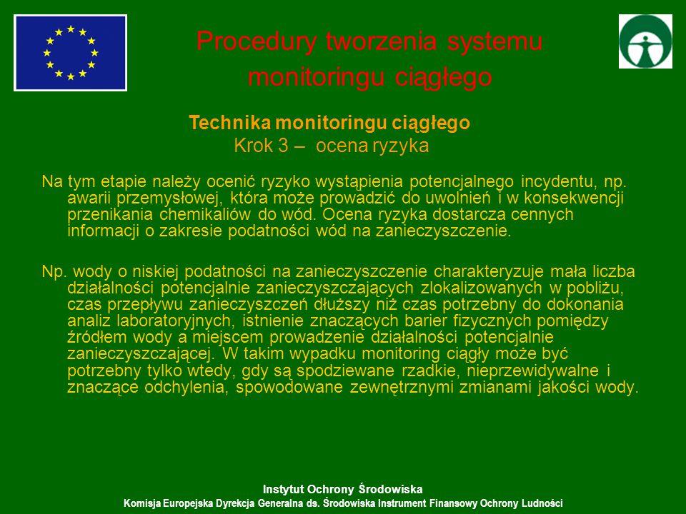 Instytut Ochrony Środowiska Komisja Europejska Dyrekcja Generalna ds. Środowiska Instrument Finansowy Ochrony Ludności Na tym etapie należy ocenić ryz