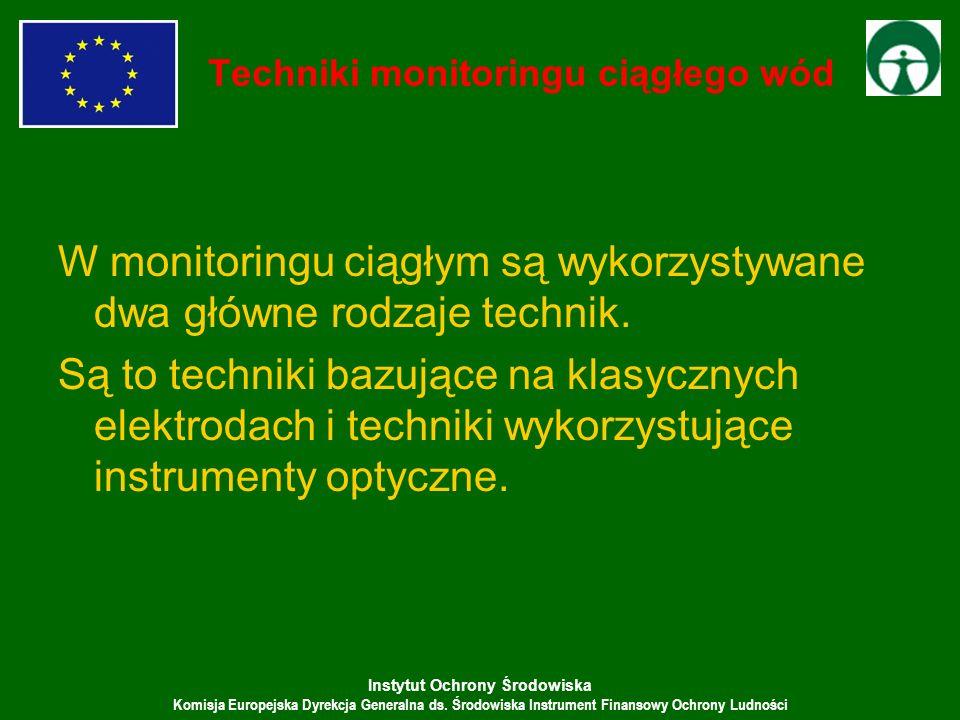 Instytut Ochrony Środowiska Komisja Europejska Dyrekcja Generalna ds. Środowiska Instrument Finansowy Ochrony Ludności Techniki monitoringu ciągłego w