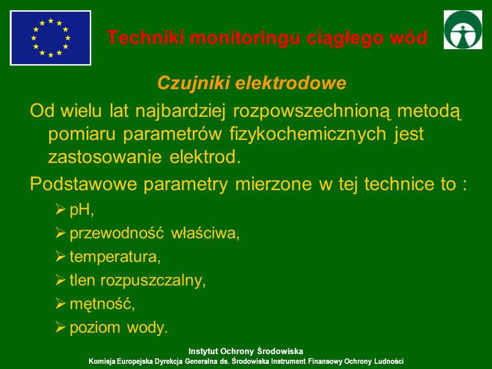 Instytut Ochrony Środowiska Komisja Europejska Dyrekcja Generalna ds. Środowiska Instrument Finansowy Ochrony Ludności Czujniki elektrodowe Od wielu l