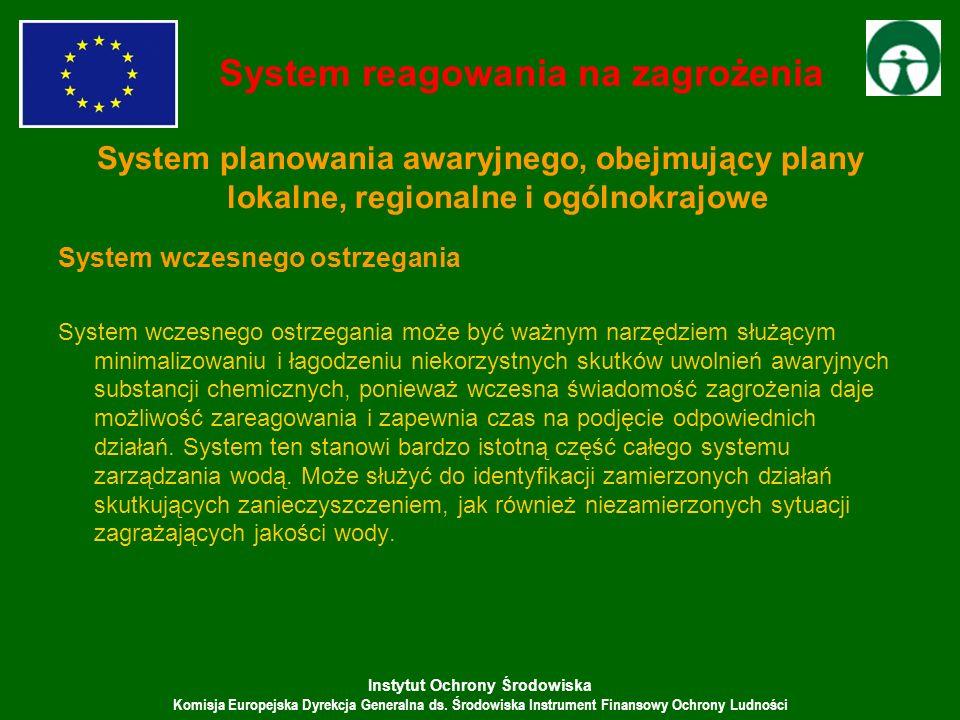 Instytut Ochrony Środowiska Komisja Europejska Dyrekcja Generalna ds. Środowiska Instrument Finansowy Ochrony Ludności System reagowania na zagrożenia