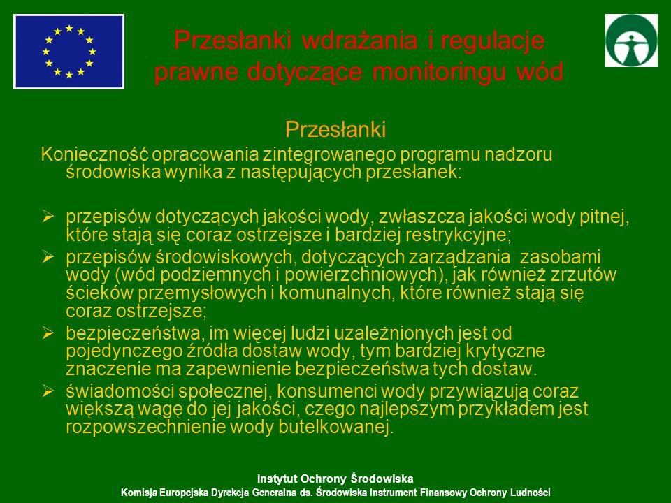 Instytut Ochrony Środowiska Komisja Europejska Dyrekcja Generalna ds. Środowiska Instrument Finansowy Ochrony Ludności Przesłanki wdrażania i regulacj