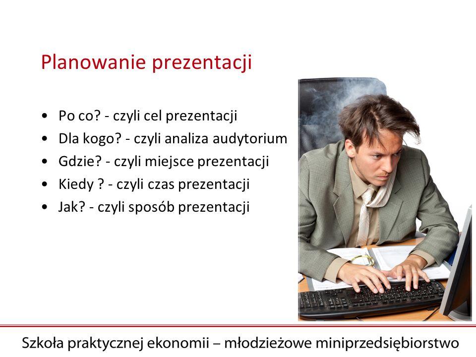 Cel prezentacji Co słuchacze powinni po prezentacji wiedzieć o naszym przedsięwzięciu.