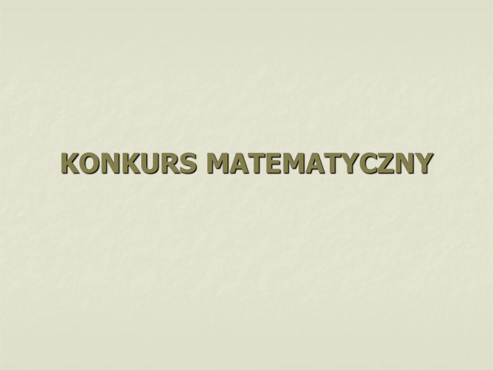 KONKURS MATEMATYCZNY