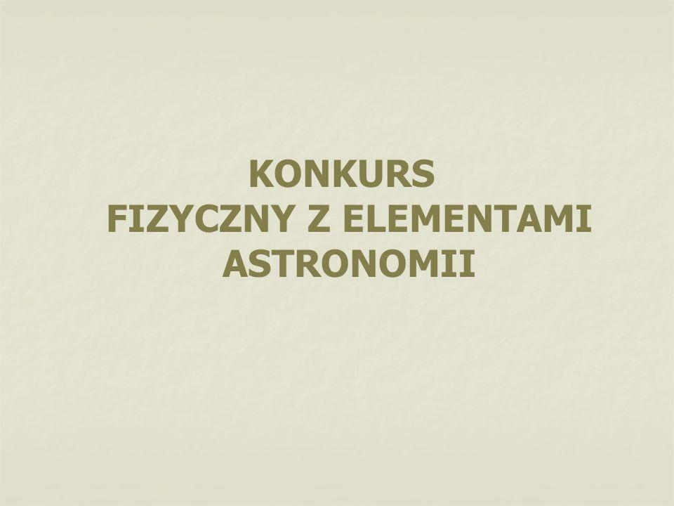 KONKURS FIZYCZNY Z ELEMENTAMI ASTRONOMII